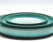 Aqua Green Ceramic Bowl Set / Fruit Bowl / Serving Bowl