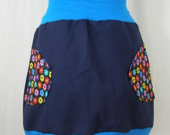 Harada flowered skirt blue