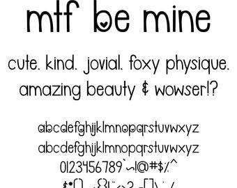 MTF Be Mine Font