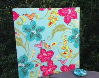 Wall Magnet Board, Office Organizer, Office Message Board, Floral Message Board, Magnet Board, Bulletin Board, Bird and Floral