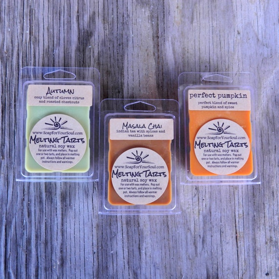 Scented Soy Wax Tart / Natural Soy Wax Melt / Home Fragrance / Fall Scents