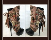 Steampunk Spats - Military Spats- By J Souza- Handmade- One Of A Kind