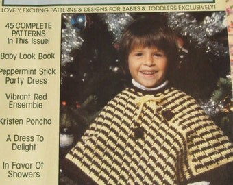 Vintage Craft Magazine CROCHET for Babies and Toddlers 45 Patterns Winter of 1982