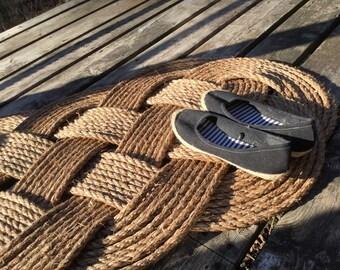 Nautical Rope Doormat, Large Rope Rug, Nautical Decor 38 inches by 24 inches/36 inches by 24 inches