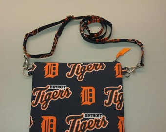 Detroit Tigers MLB purse messenger bag with adjustable strap