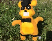 GOLDEN FREDDY Five Nights at Freddy's Plush parody- Made to Order