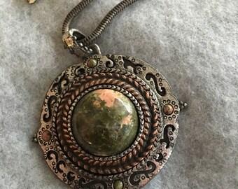 Vintage Chicos Agate Pendant Necklace