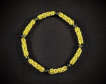 Byzantine Bracelet - Lemon Yellow