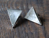 Crystal Quartz Pyramid Stud Earrings Reserved for Snowflakefender