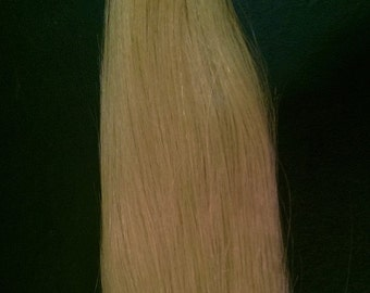 "LIGHT GOLDEN BLONDE (#27) Human Hair Extension weave, Use to make clip in extensions 25"" wide"