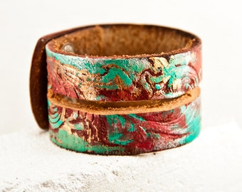 Festival Fashion Leather Cuffs Bracelets Handmade Unique Jewelry Gift Ideas