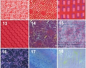 Batik Fabric Samples Available for Custom Orders - Not For Sale