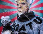 """14"""" X 11""""  Will Ferrell Portrait MUGATU  - Print"""