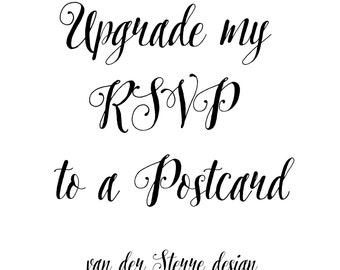 Upgrade your RSVP to a Postcard
