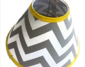 Valentines Day Sale Chevron Lamp Shade 4 x 11 x 7 in your choice of fabric and trim colors - Lampshade