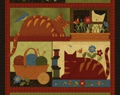NEW Crafty Cats Quilt Craft Fabric Panel