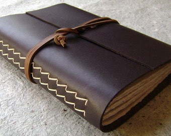 "Leather journal, 5.5""x 7.5"", handmade journal, leather sketchbook, travel diary,  (1628)"