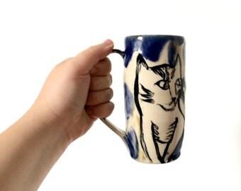 Tall Cat Mug