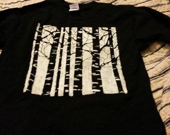 Birch Trees Short Sleeved Shirt