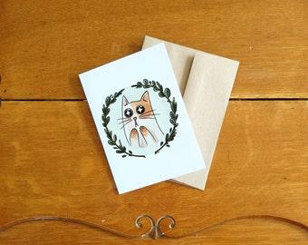 Card/Carte Starstrucked cat