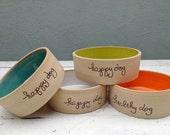 Dog Bowl, Personalized Dog Bowl, Ceramic Dog Bowl, Custom Dog Bowl, Pet Bowl, Dog Bowl Set, Pottery Bowl, Handmade, Stoneware, Ceramic, Clay