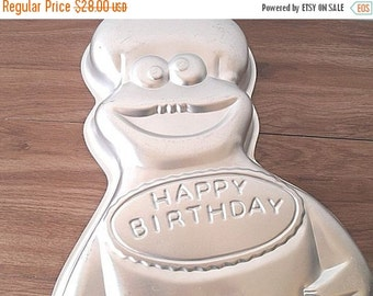 FALL SALE Vintage Wilton Cake Pan Cookie Monster Retired