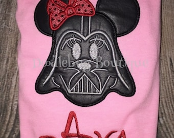 Darth Vader Minnie Mouse shirt with name
