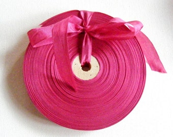 Vintage French 1930's-40's Woven Ribbon -Milliners Stock- 5/8 inch Primrose Pink