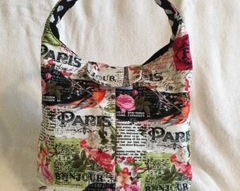 Lunch Bag Insulated Paris Floral