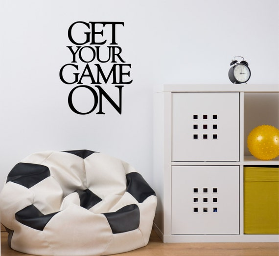 game wall decal soccer wall decal sports wall decal baseball decal