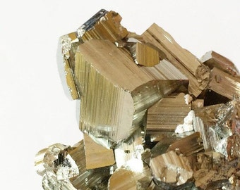 Pyrite Crystal Cluster from Peru, Natural Mineral,  Geometric Gemstone, Fool's Gold, Reiki New Age Metaphysical Healing