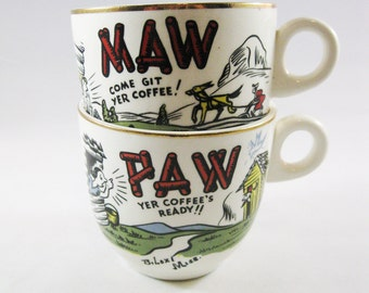 Maw and Paw Coffee Cups