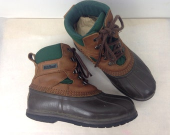 VTG LL BEAN 8 Womens Insulated Tie Up Rain Snow Winter Boots