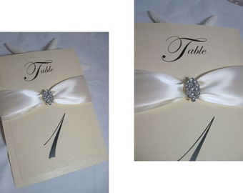 Table Numbers - Wedding Table Numbers - Elegant Swarovski Crystal Table Numbers - Custom Table Numbers - Customize to your colors