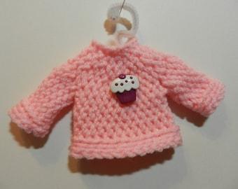 Pink Cupcake Sweater Ornament
