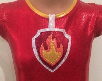 Paw Patrol Marshall Inspired Biketard. Toddlers Girls Gymnastics Biketard. Dancewear. Performance Costume. SIZES 2T-Girls 10