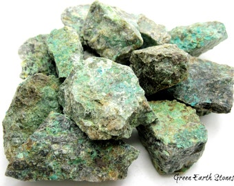 Chrysocolla Stone Natural (one)  Crystal Healing, Rock Hound, Reiki, Peace