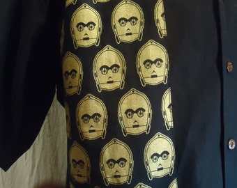 Star Wars  C3PO  Men's Shirt choose your size up to 6X