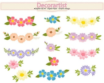 ON SALE Flowers clipart, wedding clipart, flowers banner, floral clipart,INSTANT Download
