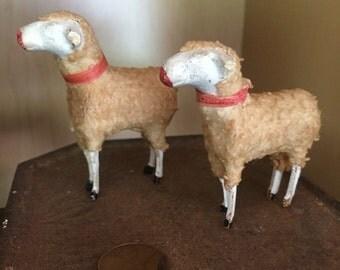 Pair of German Putz sheep