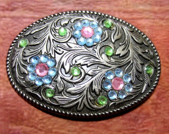 Vintage buckle cowgirl bling bronze finish 3inchs x 2.5 SB2