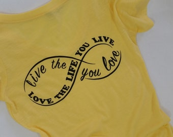 Infinity Yellow V-Neck Shirt