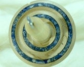 Lleto Hand-Turned Maple/Sodalite Drop Spindle-Top Whorl 35 Grams