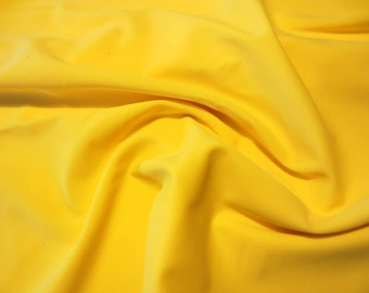 Yellow Matte Spandex Fabric