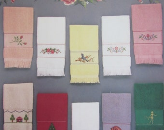 Finger Towel Favorites/Counted Cross Stitch Patterns/1986/Towel Designs/Needlecraft/Home Decor