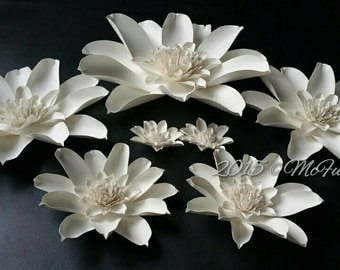 Weddings Large Paper Magnolias in the Colors of your choice