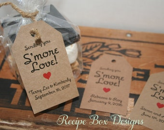 Smore love wedding favor tags, Sending you Smore Love, Smore love, rustic wedding, wedding flavors Tags, 150 tags for your S'mores