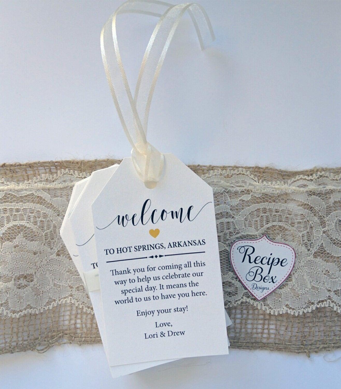 Personalized Luggage Tags Wedding Gift: Custom Favor Tags Wedding Favor Tags Welcome Gift Bag Tags