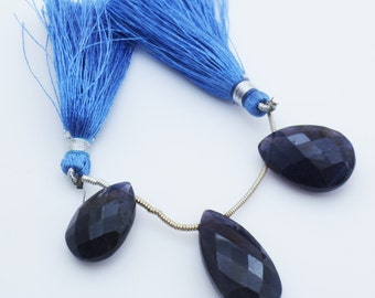Iolite Gemstone Faceted Briolettes Qty 3