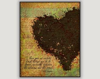 Pablo Neruda Quote, romantic wall art, anniversary gift, poetry print, literature quote, love quote, goth art, macabre art, Neruda sonnet